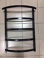 Чорний матовий рушникосушка з нержавіючої сталі MENTON 5/800 S 800*500