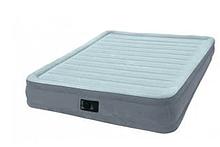 Надувная кровать-матрас Intex Comfort-Plush Mid Rise Queen встроеный электро насос ( 67770 L)