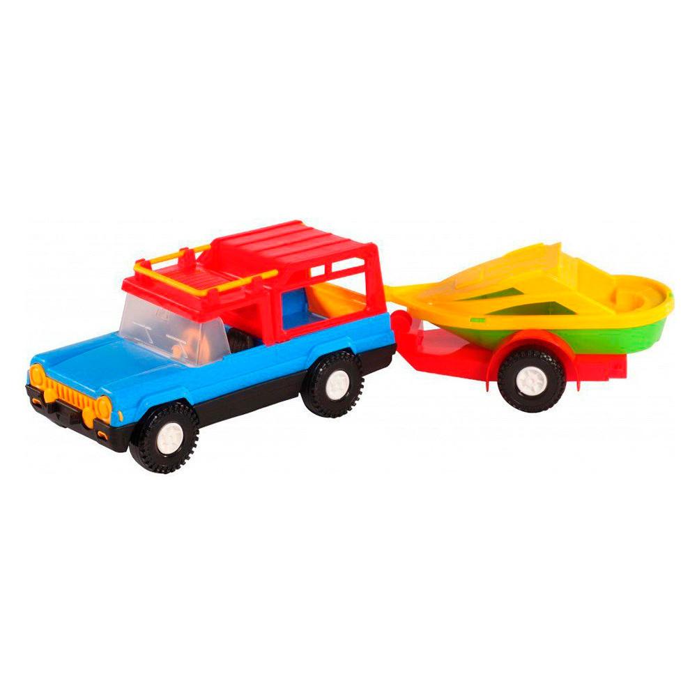 Машинка Авто-сафари с прицепом Wader Вадер (39006)