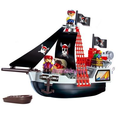 Конструктор Ecoiffier Пиратское судно с людьми (3130)