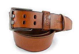 Классический винтажный мужской кожаный ремень под джинсы  в стиле Diesel (11270)