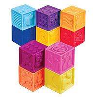 Развивающие силиконовые кубики - ПОСЧИТАЙ-КА! (10 кубиков,в сумочке)