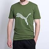 Чоловіча спортивна футболка PUMA, темно-синього кольору, фото 4