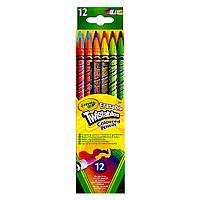 12 цветных карандашей Вертушка с ластиками (68-7508)