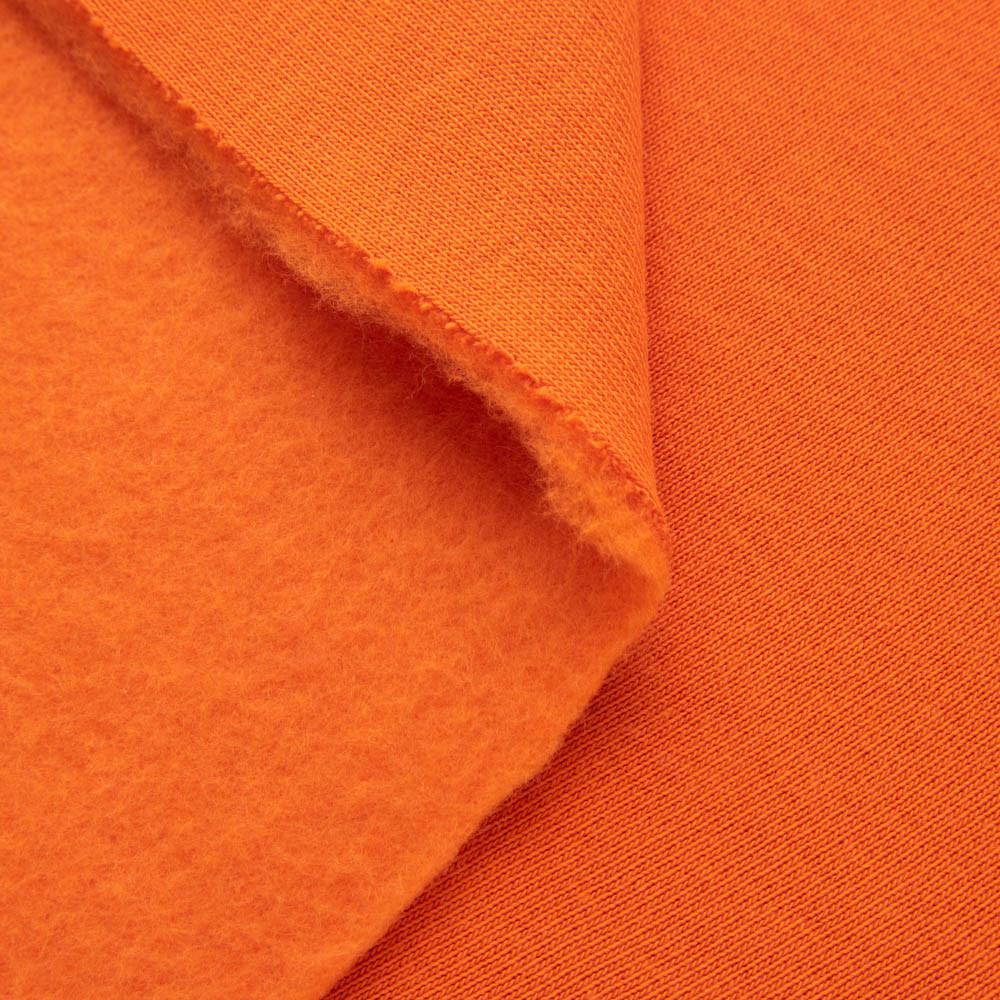 Футер трехнитка на флисе, оранжевый, с начесом, купить оптом, Украина