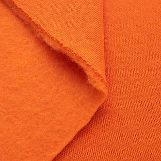 Футер трехнитка на флисе, оранжевый, с начесом, купить оптом, Украина, фото 2