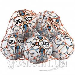 Сетка для мячей SELECT BALL NET (002) оранжевый, 6/8  мячей