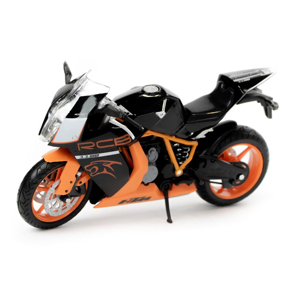 Игрушка мотоцикл Автопром металл оранжевый (7750)