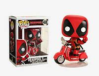Фигурка Funko Pop Фанко Поп Deadpool on scooter Дэдпул на скутере 10 см SKL38-222429