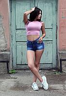 Женский летний топ под горло из вискозы, фото 1