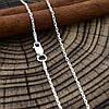 Серебряная цепочка Якорная длина 40 см ширина 1 мм вес 1.7 г, фото 5