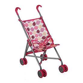 Игрушечная коляска-строллер TODSY Walky бело-розовая (9302WP)