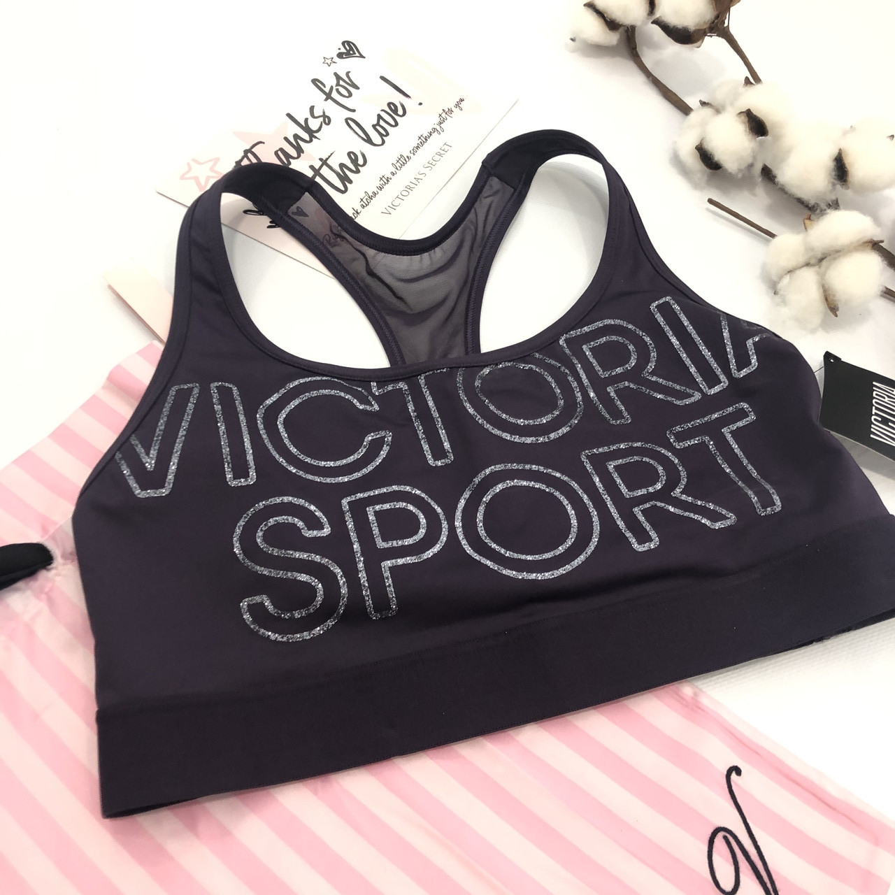 Спортивный мягкий топ Victoria Secret, оригинал! Виктория Сикрет
