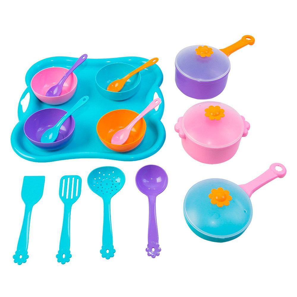 Игровой набор Посуда Ромашка Wader Вадер 19 элементов (39146)