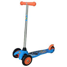 Скутер лицензионный - Hot Wheels Хот вилс (3-х колесный, 2 колеса впереди, тормоз)