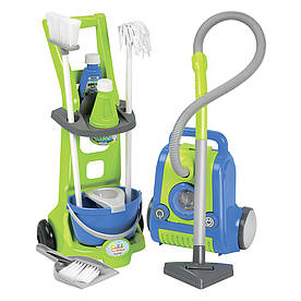 Игровой набор Тележка для уборки и пылесос Ecoiffier 10 аксессуаров (001770)