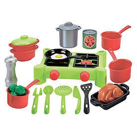Игровой набор Плита и посуда Ecoiffier 21 аксессуар (002649)