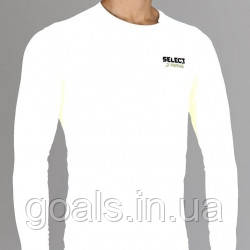 Термобельё SELECT Compression T-Shirt with long sleeves 6901 белый p.XL
