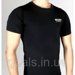 Термобельё SELECT Compression T-Shirt with short sleeves 6900 черный p.XL