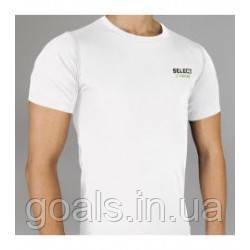 Термобельё SELECT Compression T-Shirt with short sleeves 6900 белая p.L