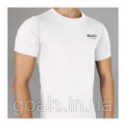 Термобельё SELECT Compression T-Shirt with short sleeves 6900 белая p.XL