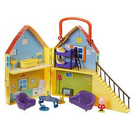 Игровой набор Peppa - ДОМ ПЕППЫ (домик с мебелью, фигурка Пеппы)