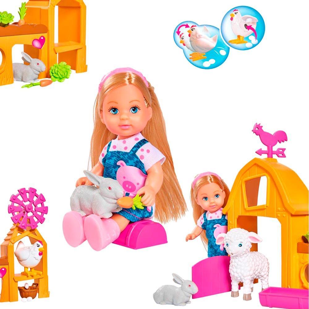 Кукольный набор Эви Счастливая ферма Steffi & Evi Love с аксессуарами (573 3075)