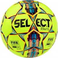 Мяч футбольный SELECT Brillant Super FIFA TB (042) желто/красный размер 5