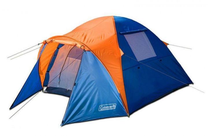 Палатка, двухместная, двухслойная, с тамбуром, непромокаемая, польская, coleman