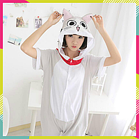Детская пижама Кигуруми, кигуруми летняя для детей Котик Чи хлопок