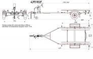 Оцинкованный одноосный прицеп для перевозки резиновых надувных (ПВХ) лодок до 3,6 м (эконом) Кияшко, фото 5