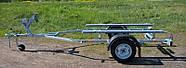 Оцинкованный одноосный прицеп для перевозки резиновых надувных (ПВХ) лодок до 3,6 м (эконом) Кияшко, фото 2
