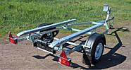 Оцинкованный одноосный прицеп для перевозки резиновых надувных (ПВХ) лодок до 3,6 м (эконом) Кияшко, фото 6
