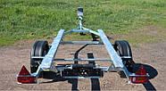 Оцинкованный одноосный прицеп для перевозки резиновых надувных (ПВХ) лодок до 3,6 м (эконом) Кияшко, фото 4