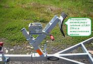 Оцинкованный одноосный прицеп для перевозки резиновых надувных (ПВХ) лодок до 3,6 м (эконом) Кияшко, фото 3