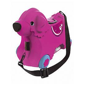 Каталка для малыша Путешествие с отделением для вещей BIG розовая (0055353)