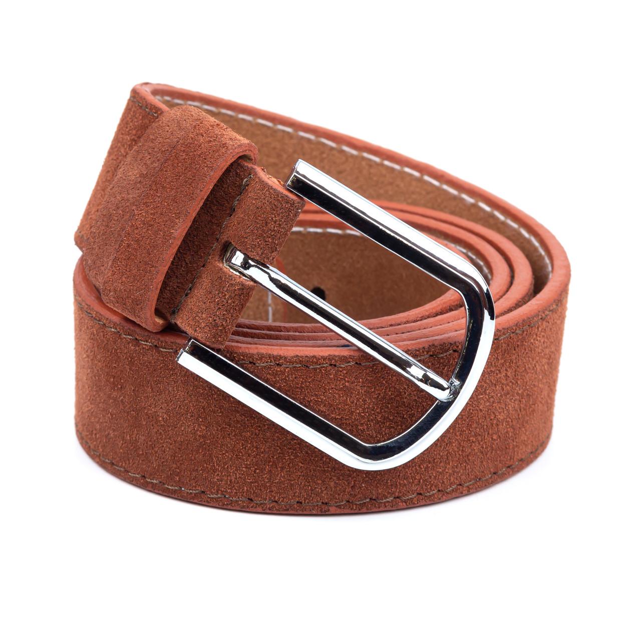 Ремень Woman's heel терракотовый замшевый  (Р-46)
