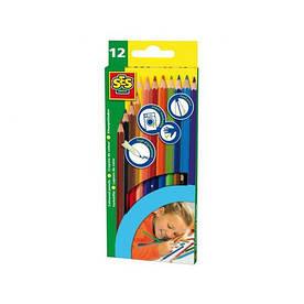 Набор - цветных карандашей (12 цветов)
