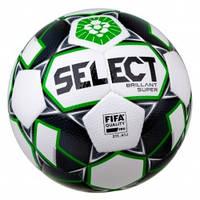 Мяч футбольный SELECT Brillant Super FIFA PFL (013) бел/зеленый  р.5