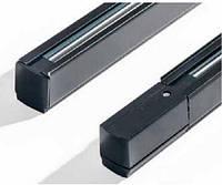Трек 2м 3ф  черный прямоугольный для светильников на шинопровод , фото 1