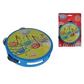 Детский музыкальный инструмент Бубен Simba Веселые ноты (683 4041)