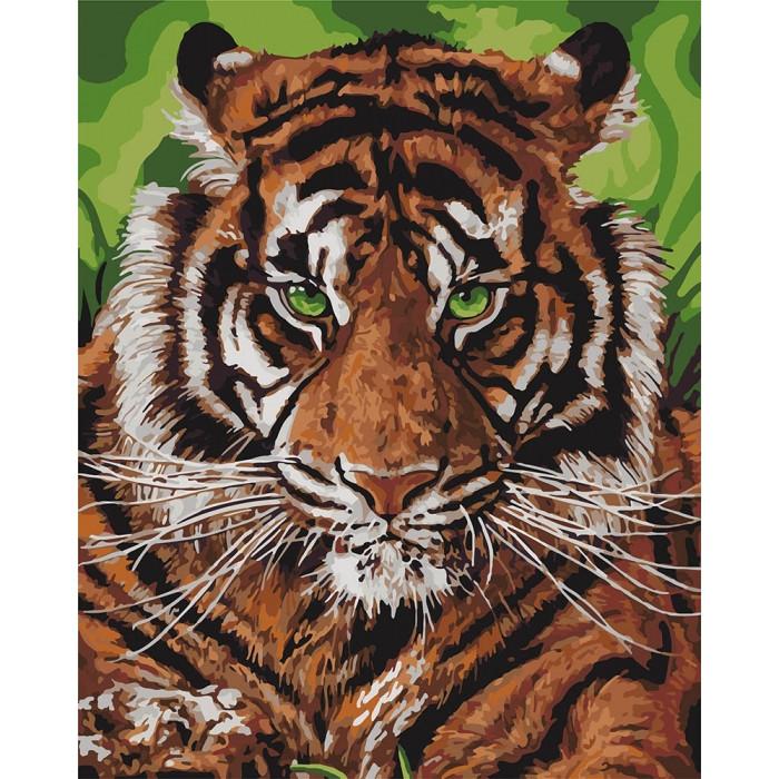 Картина по номерам  Непобедимый тигр ТМ Идейка 40 х 50 см КНО4143