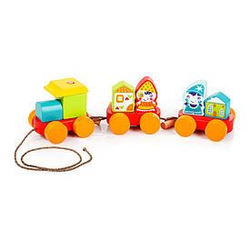 Деревянная игрушка Cubika Поезд сказочный (14002)