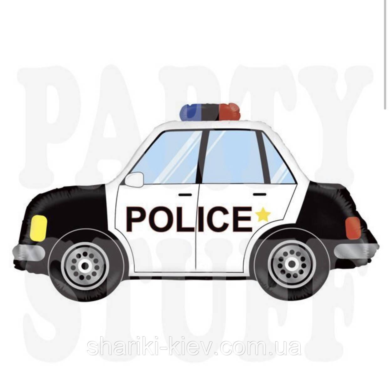 Куля фольгований Поліцейська машина