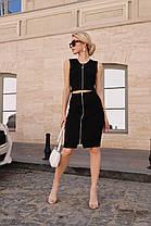 Стильный костюм на молнии юбка карандаш и топ без рукавов, фото 3