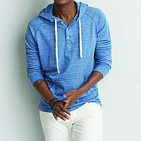 Кофта AEO Long-Sleeve Hooded BLUE (L)