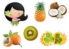 """Вафельна картинка """"Тропічні фрукти"""""""