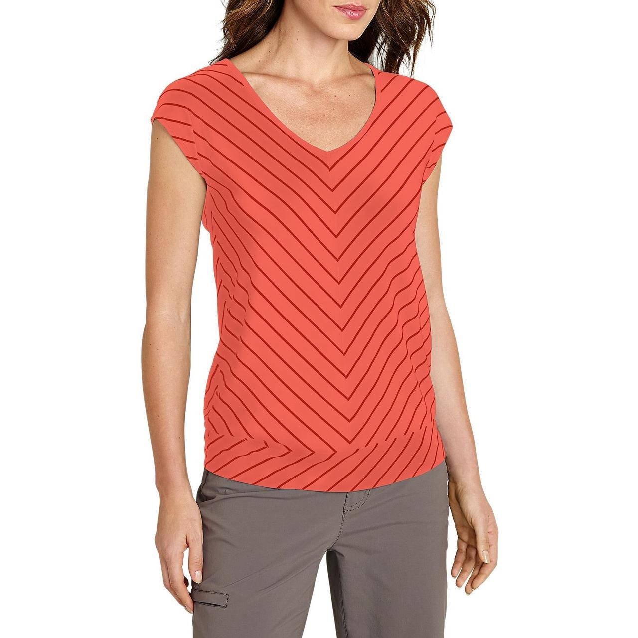 Женская футболка Eddie Bauer Gradient Dolman-Sleeve T-Shirt DUSTY CORAL (M)