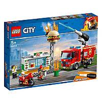 Конструктор LEGO Лего City Пожар в бургер-баре (60214)