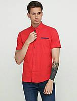 Красивая мужская рубашка цвет красный